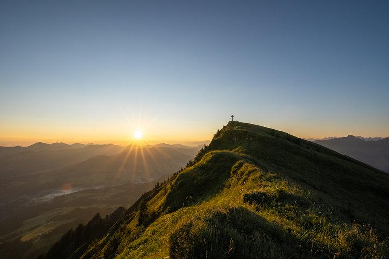 Sonnenaufgang Winterstaude